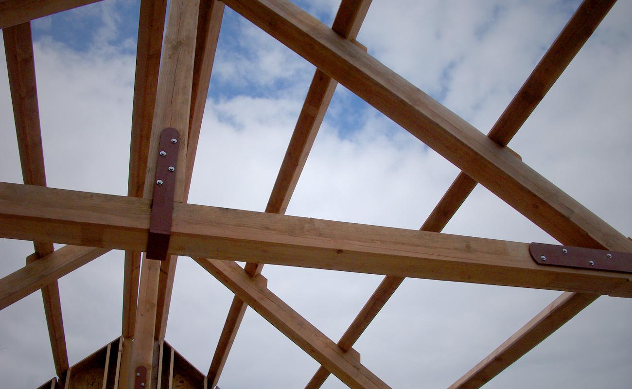 Traditionally framed roof truss