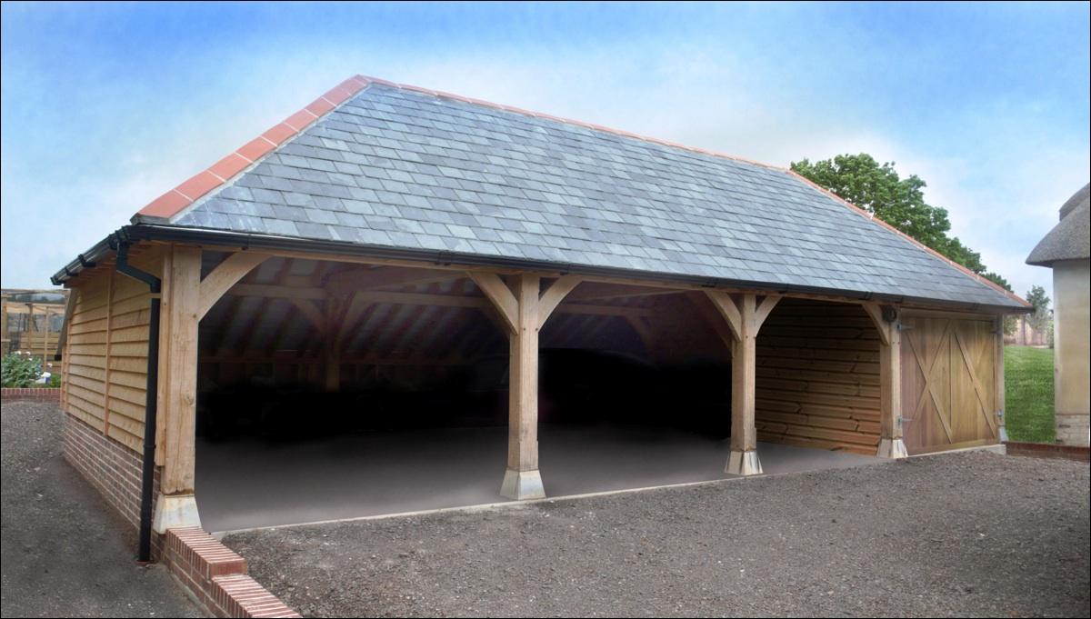 4 Bay Garage House Plans