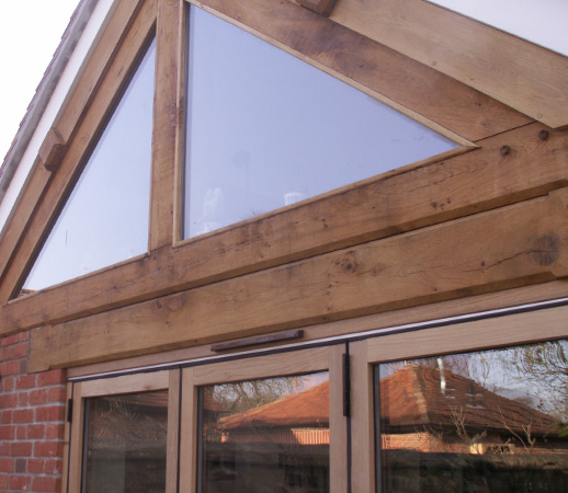 Green oak framed extension