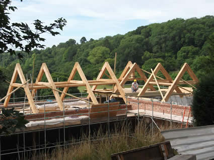 Traditionally framed roof truss