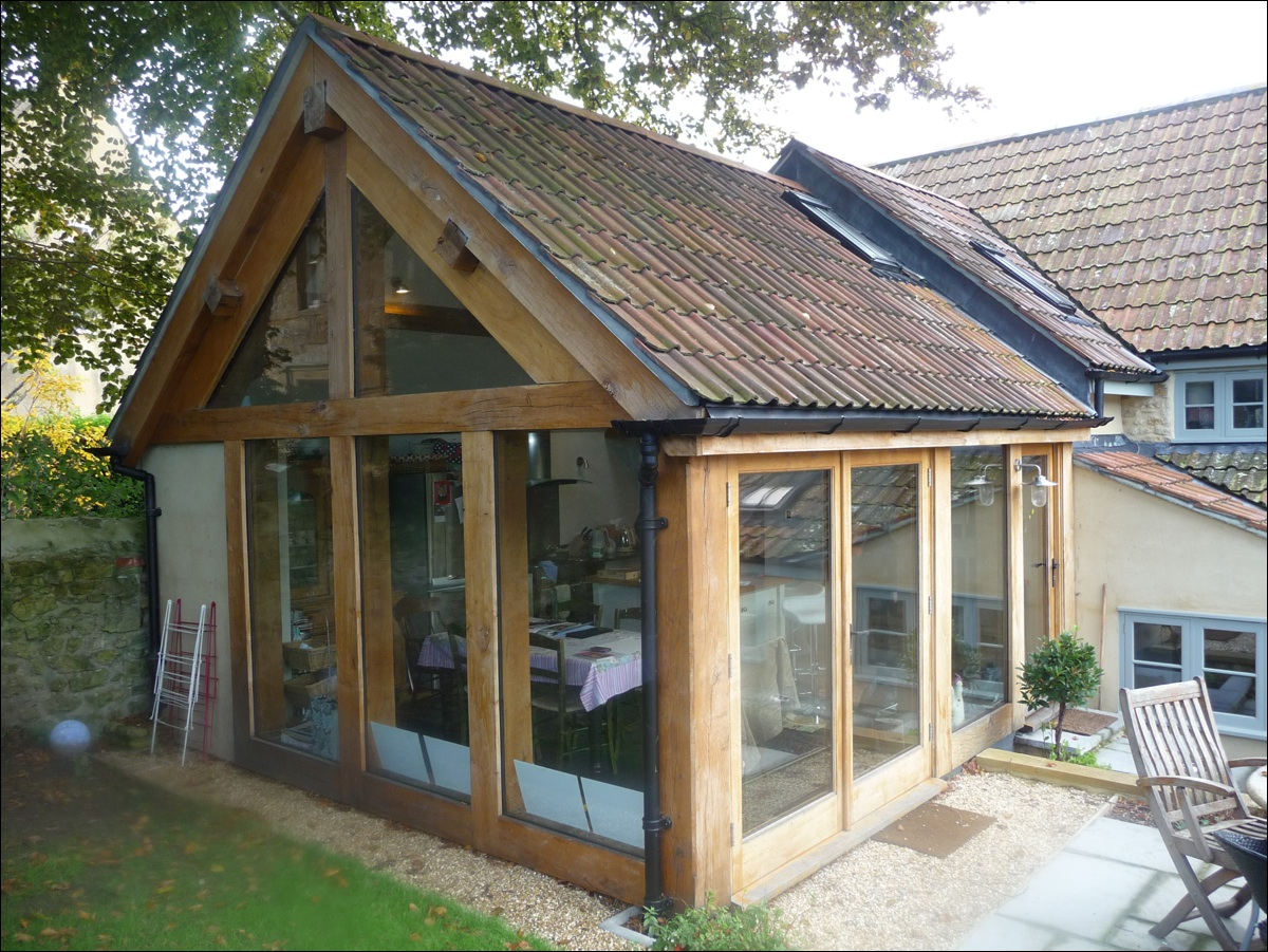 Glazed Oak Sun Room Timber Framed Building