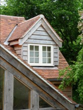 Cropped Hip roof with dormer window