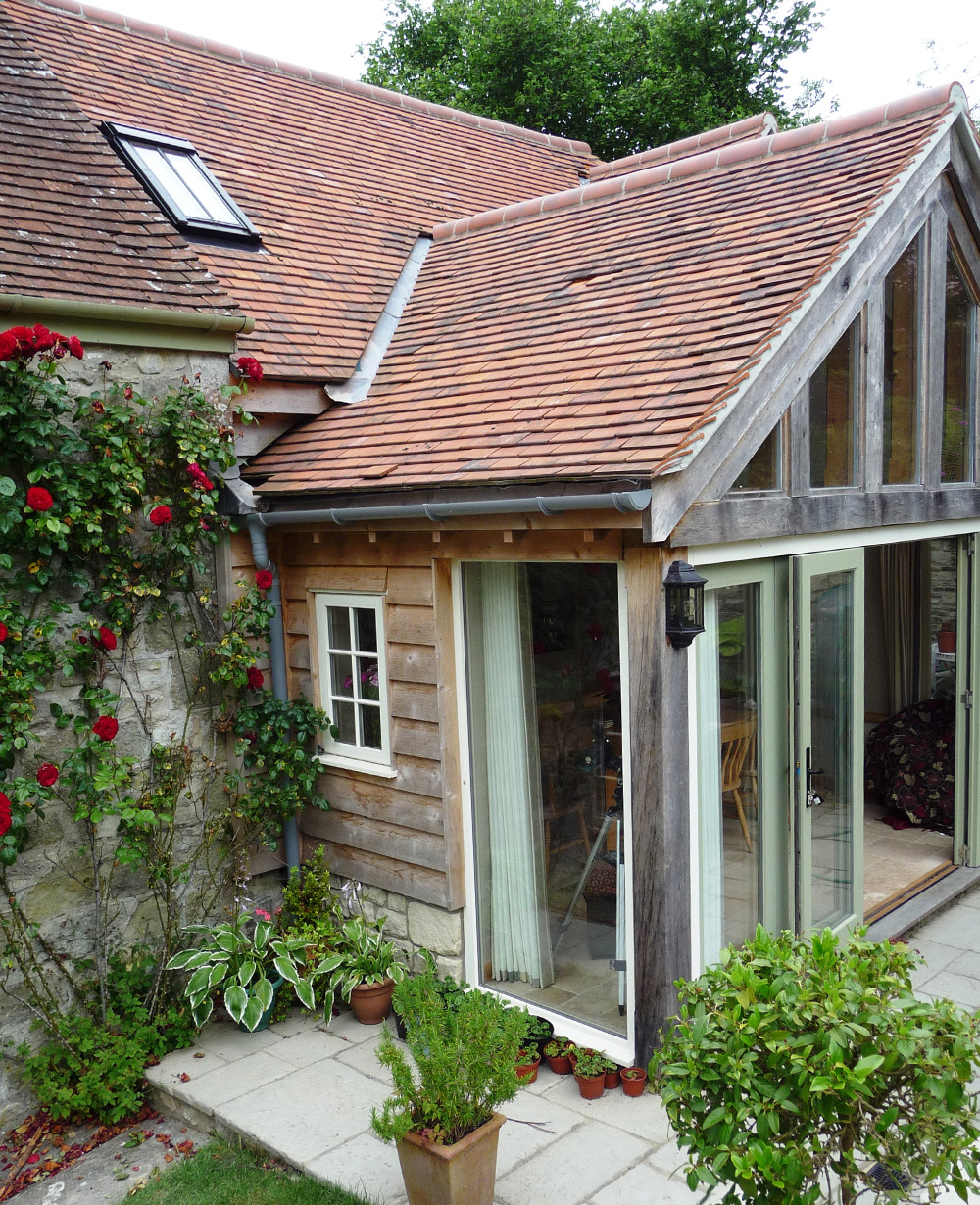 An Oak Frame Home Built For Under 200k: Oak Framed Extension In Dorset
